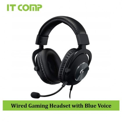 Logitech G PRO X Gaming Headset with Blue Voice (981-000820)